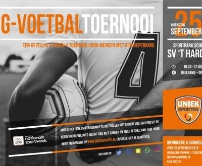 G-Voetbal tijdens Nationale Sportweek
