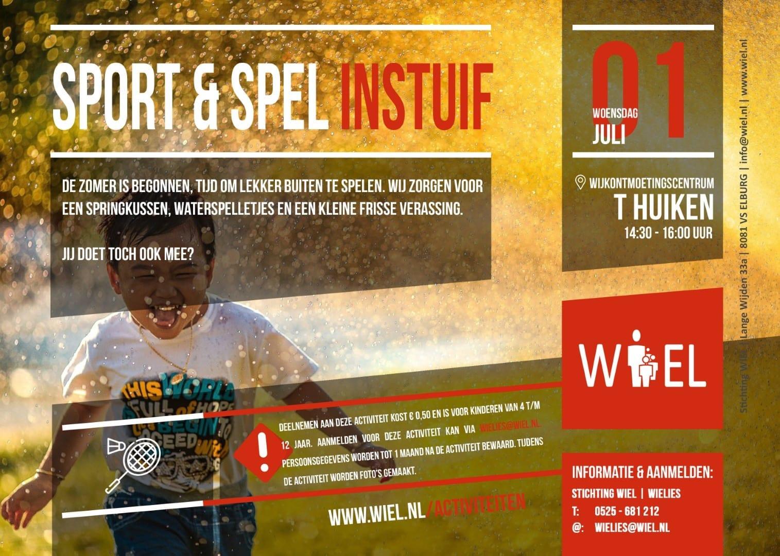 Sport&Spel instuif - Stichting WIEL
